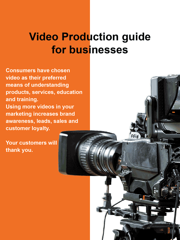 The cover for the video production guide for the e-book